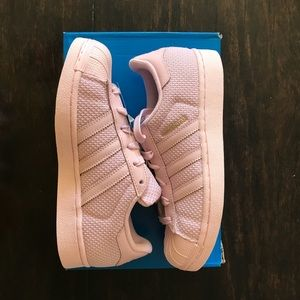 3.5 Girls Adidas: PINK SUPERSTAR ORIGINAL NWT